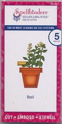 Spellbinders snij- en embosmallen Basilicumkruidenplantje 5 stuks S2-089 (Locatie: D145)