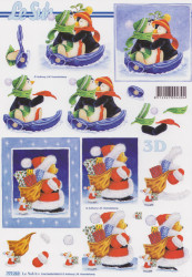 Le Suh knipvel pinguin en kerstbeer 777210 (Locatie: 1626)