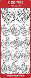 Stickervel goud Maria, Jozef & Jezus DD7016 (Locatie: K196)