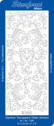 Starform sticker transparant glitter zilver 7085 (Locatie: J513)