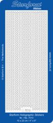 Starform sticker zilver/goud holografisch 7010 (Locatie: U137)