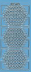 Stickervel blauw/goud XP6876 (Locatie: K100)