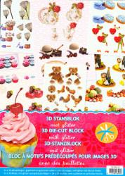 3D Stansblok met glitter DS8993-03 (Locatie: S2)