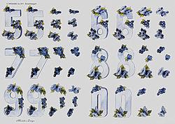Wekabo knipvel cijfers 611 (Locatie: 0627)