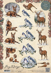Amy Design knipvel Animals in the snow CD10429 (Locatie: 5560)