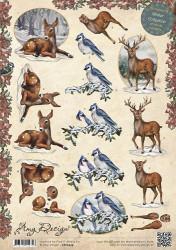 Amy Design knipvel Animals in the snow CD10429 (Locatie: 5560)