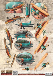 Amy Design knipvel vliegtuigen CD10847 (Locatie: 5531)