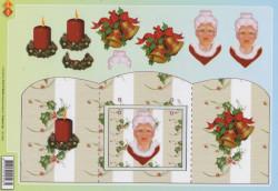 Card Deco knipvel kerstmis CD10052 (Locatie: 2239)