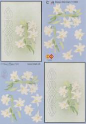 Card Deco knipvel met borduurpatroon 115008 (Locatie: 1133)