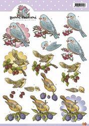 Card Deco knipvel vogels CD10183 (Locatie: 4721)