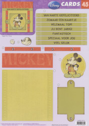 Disney Vintage - CARDS 3D Mickey Mouse A4 knipvel CARDS 45 NL (Locatie: 1752)