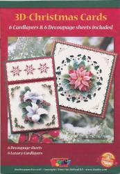 Doodey 3D-kaartenpakket kerstmis met boekje en oplegkaarten ZV80659 (Locatie: 4419)
