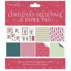 Dovecraft Christmas Decoupage & Paper Pad DCDPG004X16