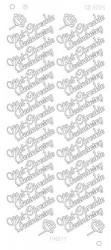 Find it stickervel glanzend zilver met oprechte deelneming CD3005 (Locatie: h206)