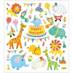 Glitter Stickers, vel 15x16,5 cm, verjaardag, 27183 (Locatie: 2606)