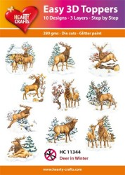 Hearty Crafts Easy 3D Toppers Deer in Winter HC11344 (Locatie: K2)