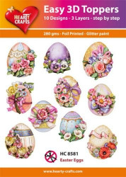 Hearty Crafts Easy 3D Toppers - Easter Eggs HC8581 (Locatie: K2)