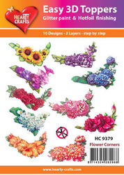 Hearty Crafts Easy 3D Toppers - Flower Corners HC9379 (Locatie: K2)