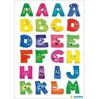 Herma stickers letters A-Z leuke gezichten 2 vel 4194 (Locatie: HE011)