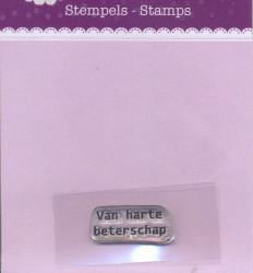 Hobby Idee Clear Stamp Van harte beterschap HI-STAMP-0007 (Locatie: NN285)