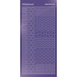 Hobbydots stickervel glanzend paars STDM129 (Locatie: N263)