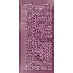 Hobbydots stickervel glanzend violet STDM126 (Locatie: N266)