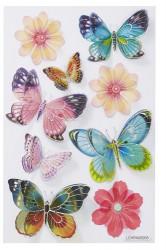 Hobbyfun 3D sticker vlinder en bloem (Locatie: 1538)