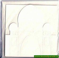 Ilses tempel, 3x kaart, 3x envelop, creme nr. 21024/2 (Locatie: OO029)