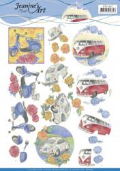 Jeanine's Art knipvel oldtimers CD11257 (Locatie: 4341)