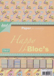 Joy Crafts blok A5 Happy Bloc's sweet engelse drop 6011 0035