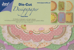 Joy! Crafts Die Cut Designpaper cupcakes 8011/0515 (Locatie: K265)