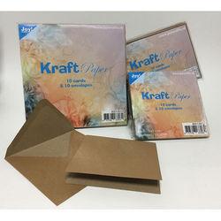 Joy Crafts! Kraft Paper 10 bruine vierkante kaarten met envelop 8001/0014 (Locatie: K3)