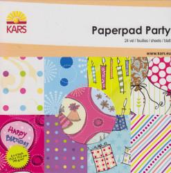 Kars Paperpad Party, 24 vel, 15.2 x 15.2 cm 117000/001 (Locatie: s2)