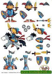 Knipvel kinderen ridder 91602 (Locatie: 1318)