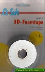 Le Suh 3d-foamtape 2,2mx12mm 1,4 mm dik 508709 (Locatie: 5R )