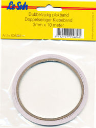 Le Suh dubbelzijdig plakband 3mm x10 mtr. 508203 (Locatie: K2)