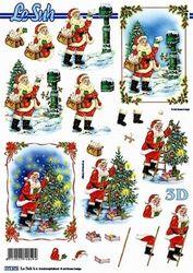 Le Suh knipvel Kerst kerstmannen 777573 (Locatie: 5561)