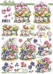Le Suh knipvel Pasen, mand/bloemen/ei 8215722 (Locatie: 2788)
