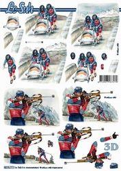 Le Suh knipvel wintersporten bobslee 8215711 (Locatie: 0138)