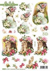 Le Suh stansvel kerst/bloemenmeisje 680093 (Locatie: 2698)