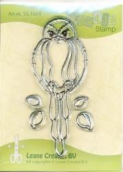 Leane Creatief clear stamp Doodle Bird 551611 (NN019)