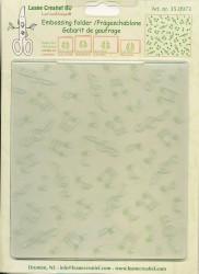 Leane Creatief embossing folder muzieksymbolen 35.0973 (Locatie: K1)
