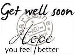 Marianne Design Clear stamp Get well soon CS0895 (Locatie: NN028)