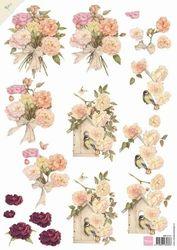 Marianne Design knipvel Pink Roses MB0141 (Locatie: 4437)