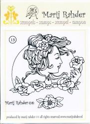 Marij Rahder stempel Jugendstil nr. 13 (Locatie: BB070)