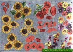 Metallic knipvel bloemen 111740410 (Locatie: 2446)