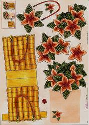 Mireille knipvel bloemenmandje 053 (Locatie: 5920)