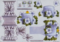 Mireille knipvel bloemenvaas X16 (Locatie: 5020)