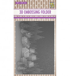 Nellie Snellen embossing folder Snowy Village EF3D017 (Locatie: M151)
