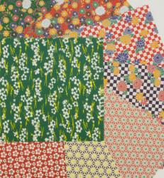 Origami papier, 16 vellen, 8 patronen, 150x150mm